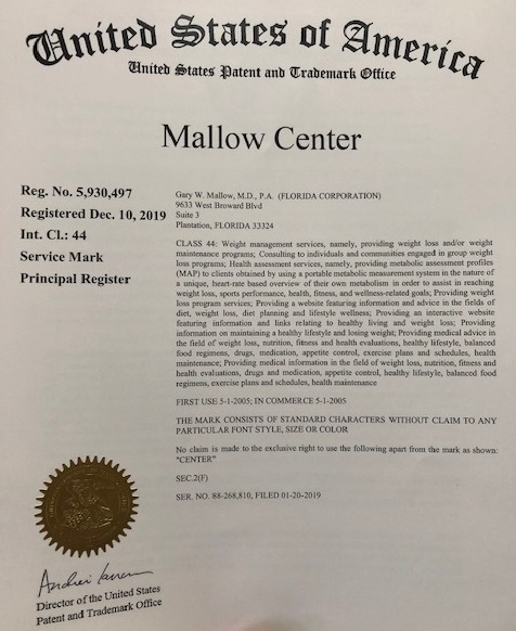 """Mallow Center Receives Trademark"""